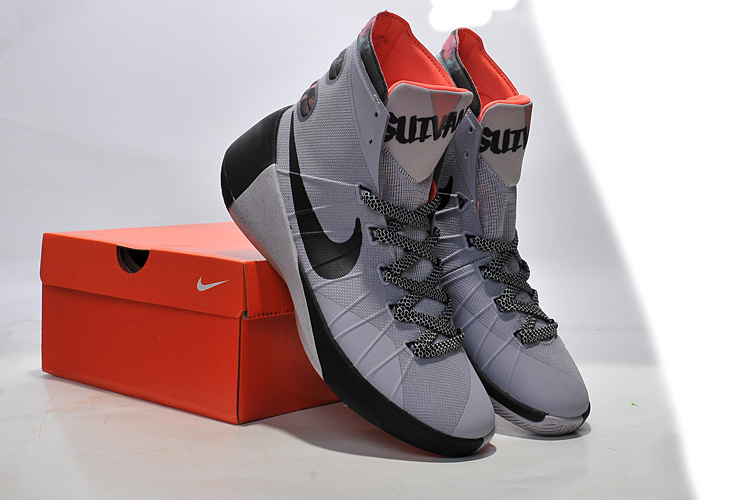 Nike Women Hyperdunk 2015 Grey Black Sneaker For Sale