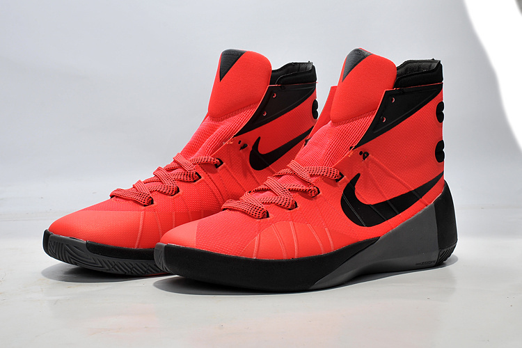 Nike Women Hyperdunk 2015 Red Black For Sale