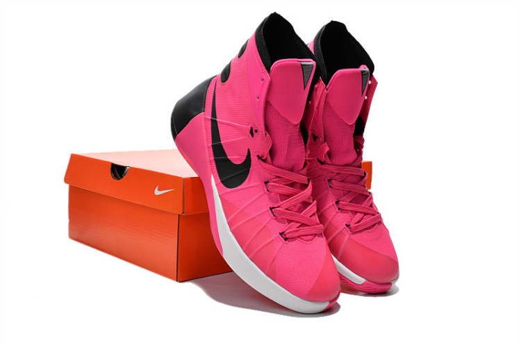 Nike Women Hyperdunk 2015 Red Black White For Sale