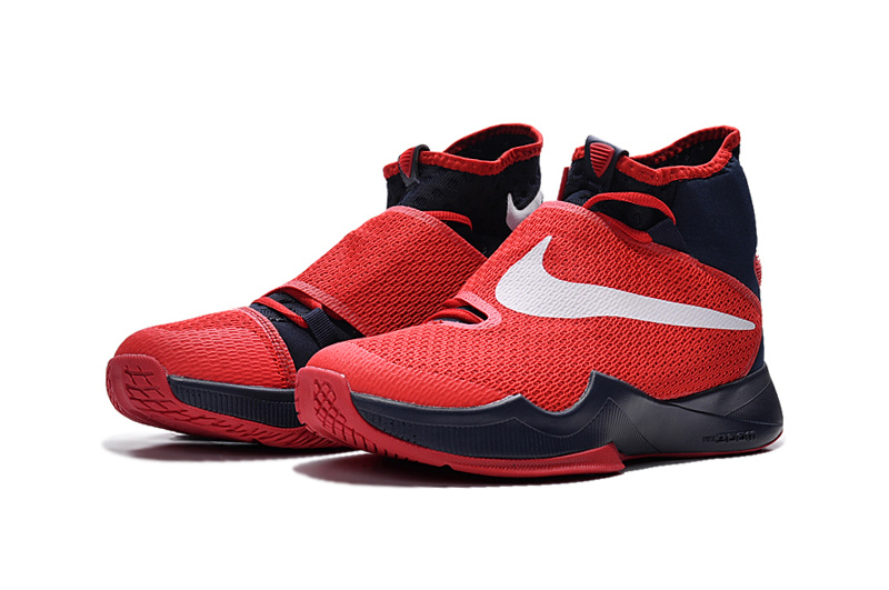 New Women Nike Hyperrev 2015 Red Black White Sneaker
