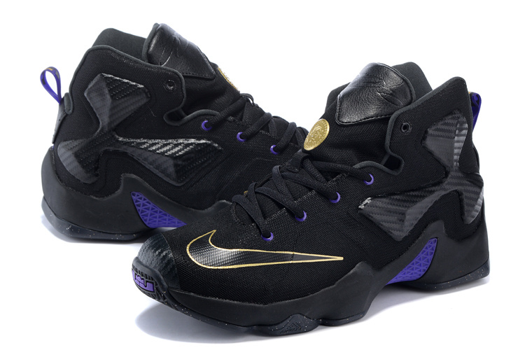 Nike Women Lebron James 13 BHM Black Blue Sneaker For Sale
