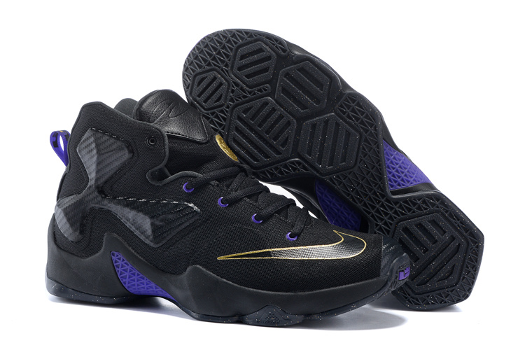 Nike Lebron James 13 Black Gold Purple Women Size