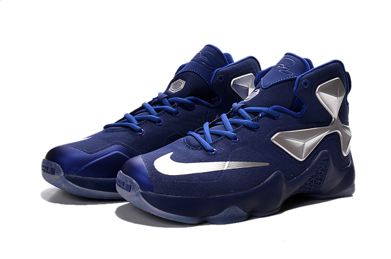Nike Lebron James 13 Blue Silver Women Size On Sale