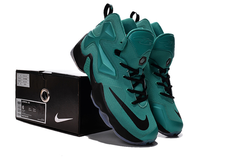 timeless design cbc5f 7b4f7 Nike Women Lebron 13 Green Black For Sale