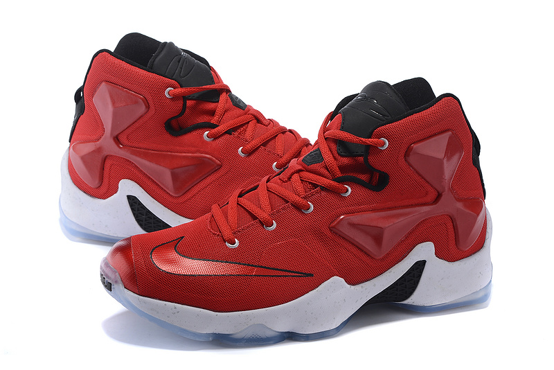 Nike Women Lebron James 13 Red Black White Sneaker For Sale