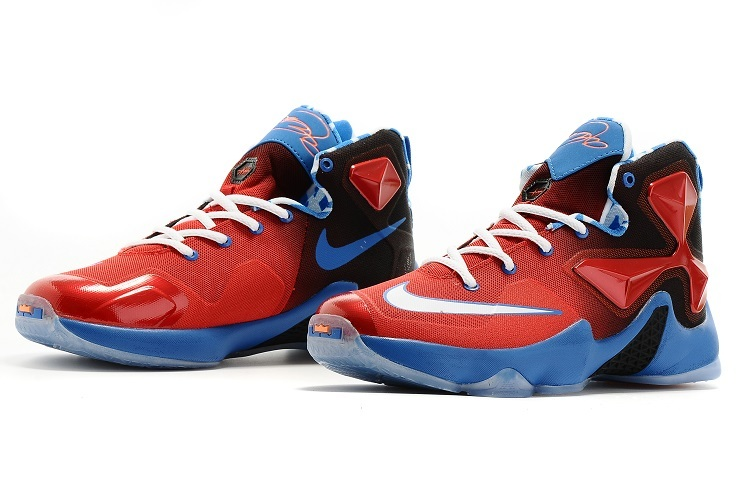 Nike Women Lebron James 13 Red Blue Sneaker For Sale