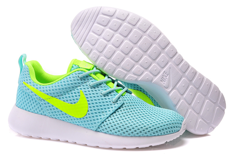 Women Nike Roshe Two Floursecent Green Shoes_