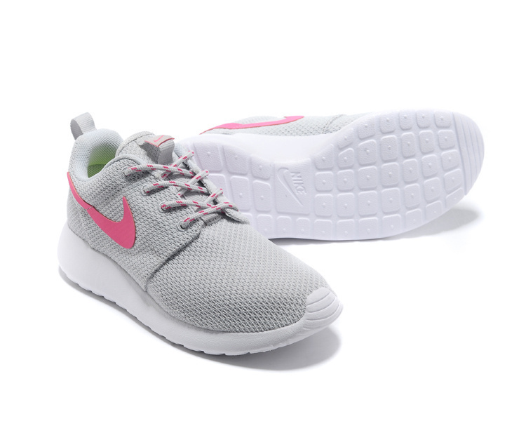 Women Nike Roshe Two Mesh Grey Pink Shoes