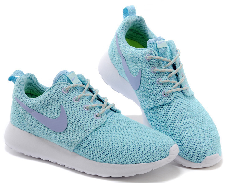 Women Nike Roshe Two Mesh Jade Blue White Shoes