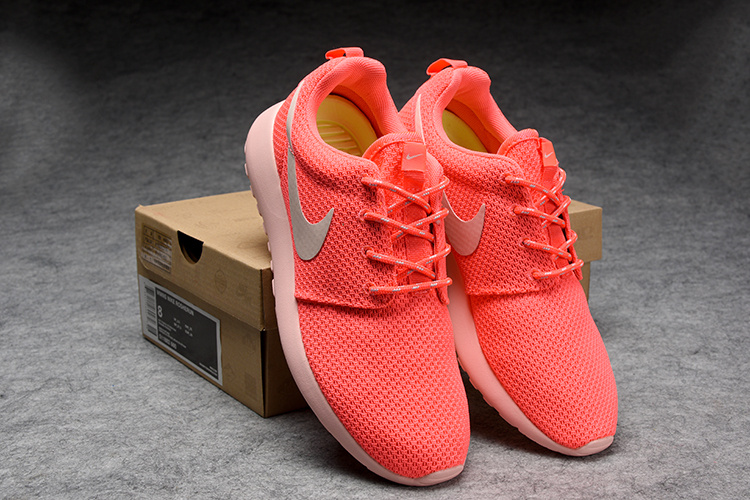 Women Nike Roshe Two Mesh Peach Red Shoes