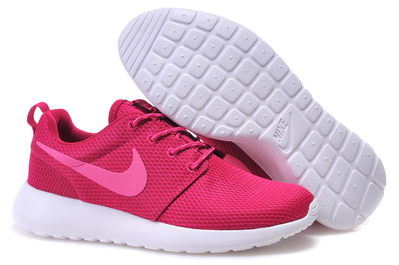 Women Nike Roshe Two Mesh Red White Shoes