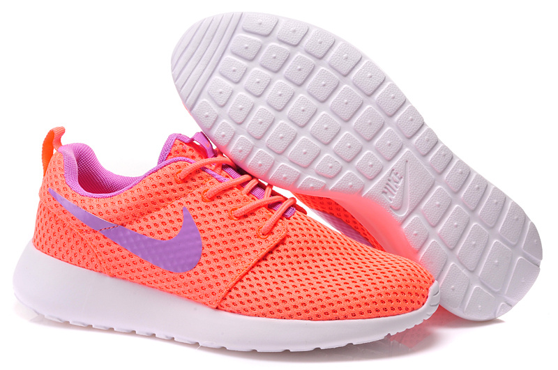 Women Nike Roshe Two Pink Purple White Shoes