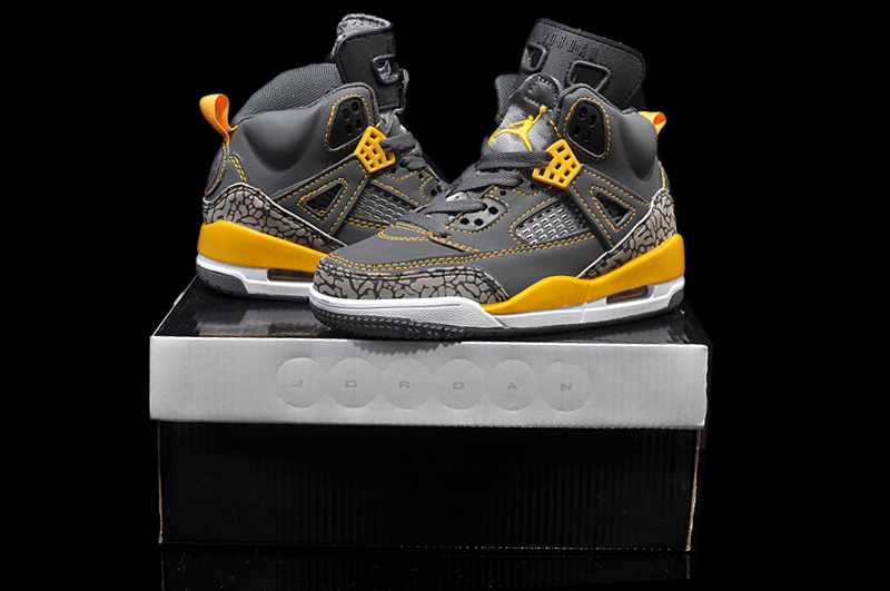 Womens And Girls New Arrival Jordan 3.5 Retro Grey Yellow White_354