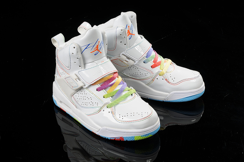 latest Air Jordan Flight 4.5 Classic White Colorful For Women_05