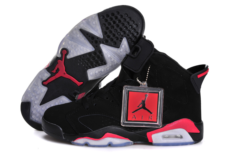 New Jordan 6 Black Infeed Red For Women