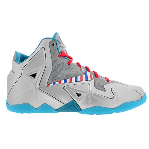Nike Lebron 11 White Grey Red Basketball Shoes