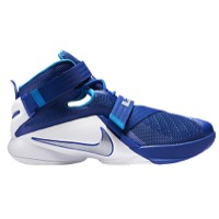 Nike Lebron Solider 9 White Blue Basketball Shoes