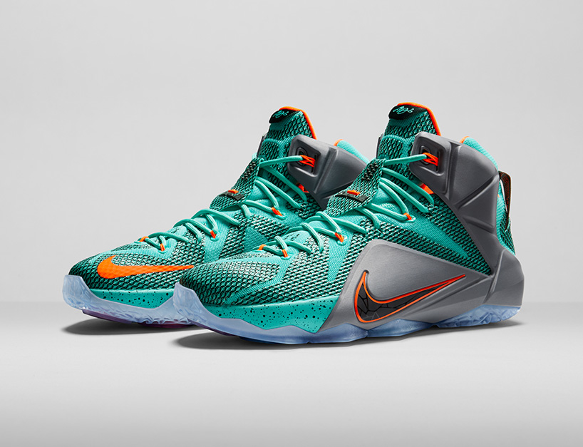 Nike Lebron 12 Green Gray Shoes For Sale